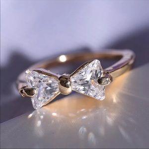 Fashion Crystal Bow Ring